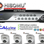 Paketan Murah Camera CCTV IR Hisomu Japan 4 Channel