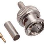 Konektor BNC Crimping Grade A untuk kabel RG59 dan RG60